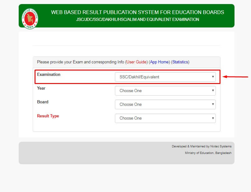 how to get SSC Result Marksheet Step 3